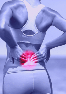 suffering from a slipped disc
